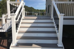 Outdoor Patio Installation leading to Deck Steps in Glenelg