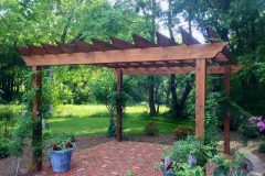 Outdoor patio installation in Glenelg with Pergola