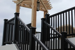Pergola over deck stairs