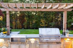 Outdoor kitchen and patio installation in Glenwood MD