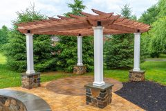Patio with pergola installation in Ellicott City, MD