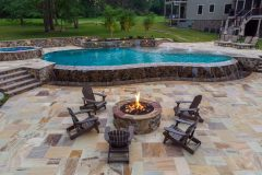 Fire Pit Calure outdoor patio design