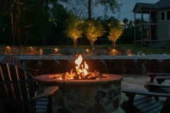 Outdoor patio design in Ellicott City with firepit