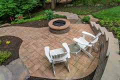 Outdoor patio design with fire pit in Dayton MD