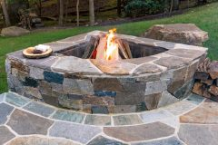 Outdoor patio design in Clarksville, Sabine Fire Pit
