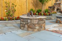 Fire pit outdoor patio installation in Sykesville