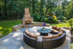 Fireplace and fire pit outdoor patio design in Dayton MD