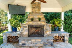 Fireplace Cashman, patio installation
