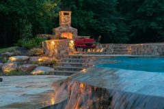 outdoor patio designed with outdoor lighting in Sykesville