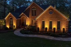 outdoor lighting on home exterior