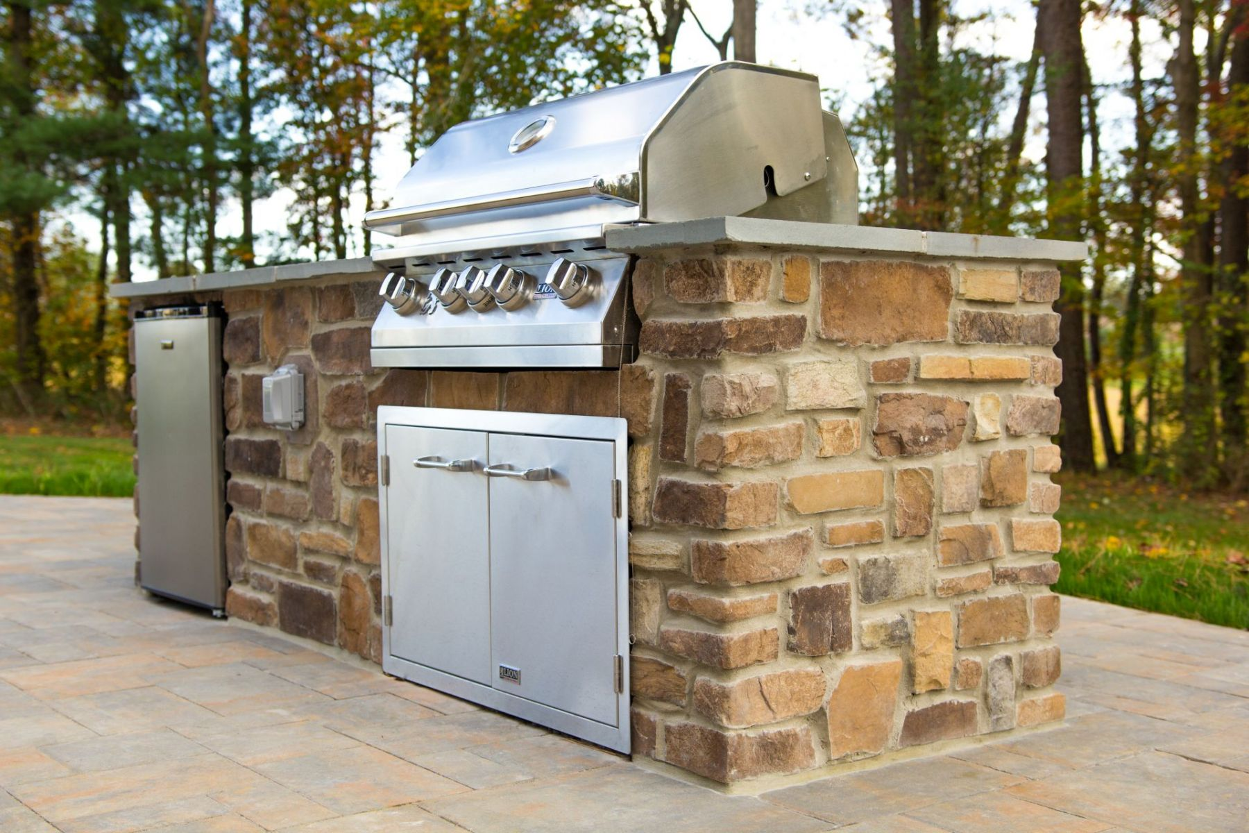 Outdoor kitchen for Howard County with custom island grill combination
