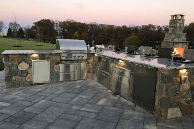 outdoor kitchen and patio installation in Glenelg