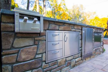 Outdoor kitchen close up