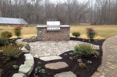 Outdoor kitchen and outdoor patio installation in Dayton
