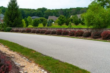 Hardscaping retaining wall and landscape installation