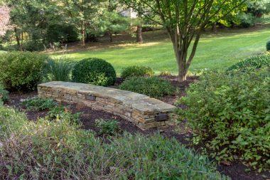 Landscape design with hardscaping in Clarksville