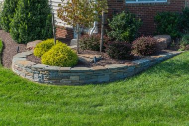 Retaining wall hardscaping in Dayton