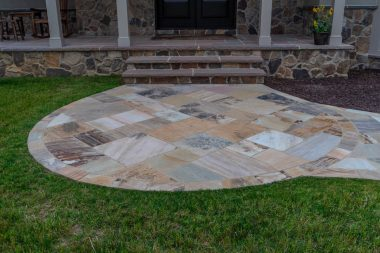 Outdoor patio installation in Glenwood MD