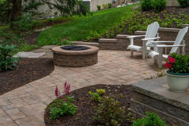 Outdoor patio design and hardscaping