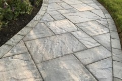 Outdoor patio installation of walkway in Clarksville