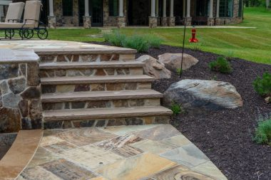 Landscape Installation of Steps in West Friendship