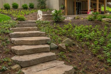 Landscape Installation in Ellicott City with Steps