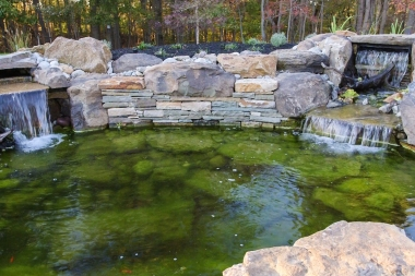 Water feature with hardscaping in Dayton MD