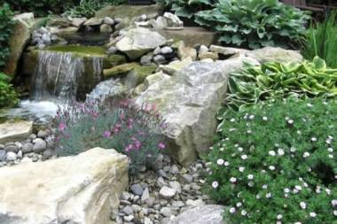 Hardscaping with water feature landscape design