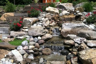 Hardscaping in Glenwood MD, water feature design
