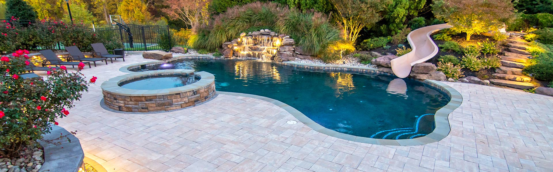 Pool Patio Design in Clarksville, Howard County, Ellicott City, Sykesville