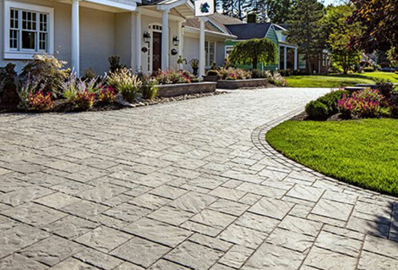 Driveway pavers in Howard County, Blu 80 slate pavers from Techo Bloc